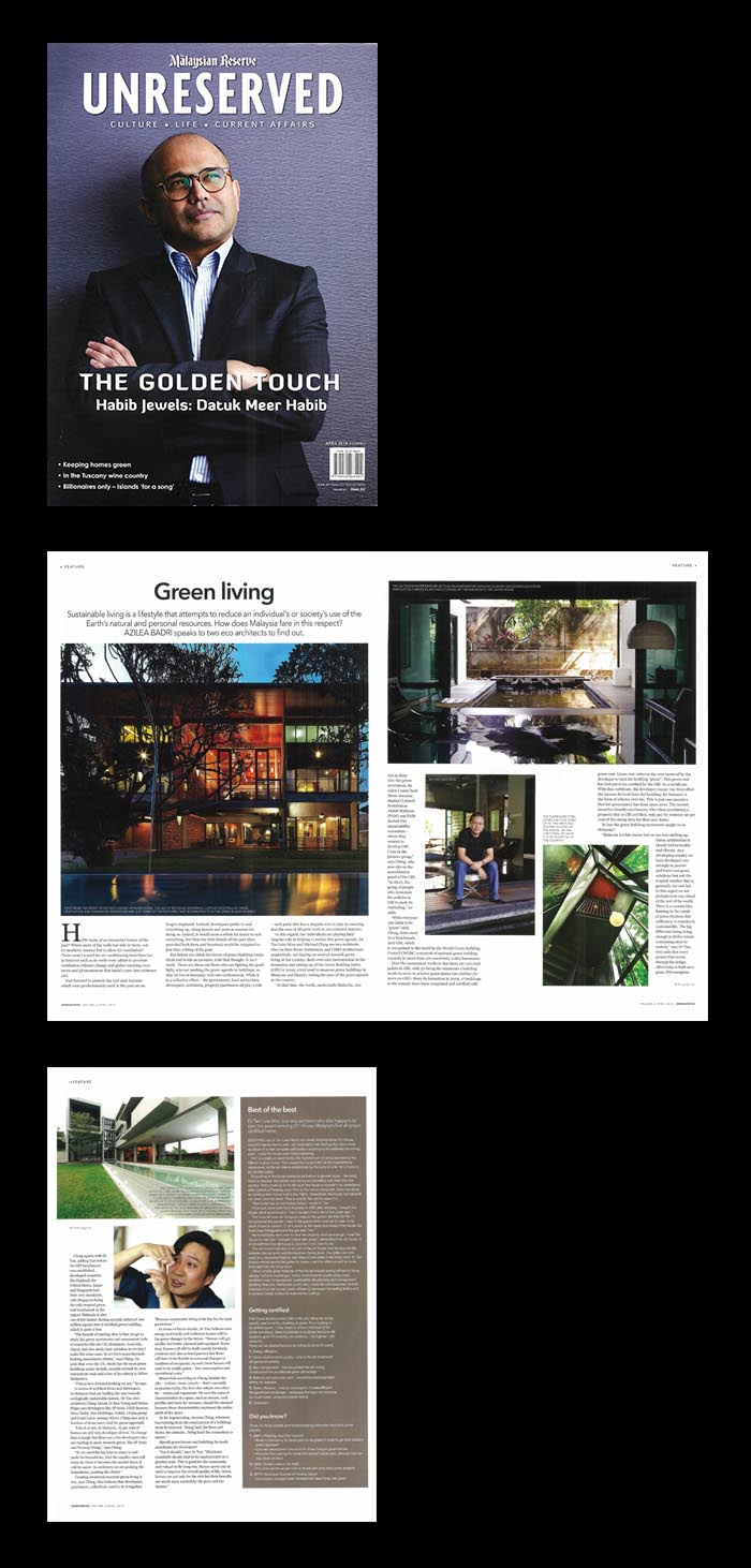 Green Living, Unreserved -the malaysian reserve news - 17 Apr 2014